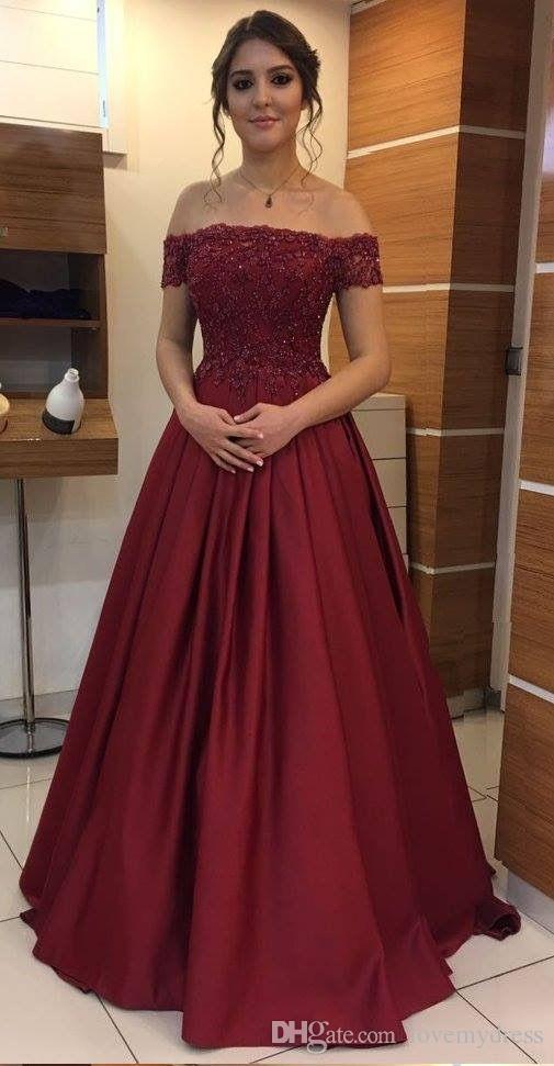 Vestidos Elegantes De Noche Color Vino Vestidos Elegantes