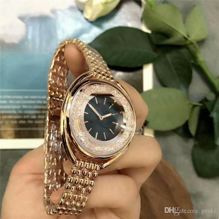 Ultra marca rosa oro mujer diamante Swa relojes 2018 marca de lujo enfermera señoras vestidos hebilla de joyería femenina regalos para niñas