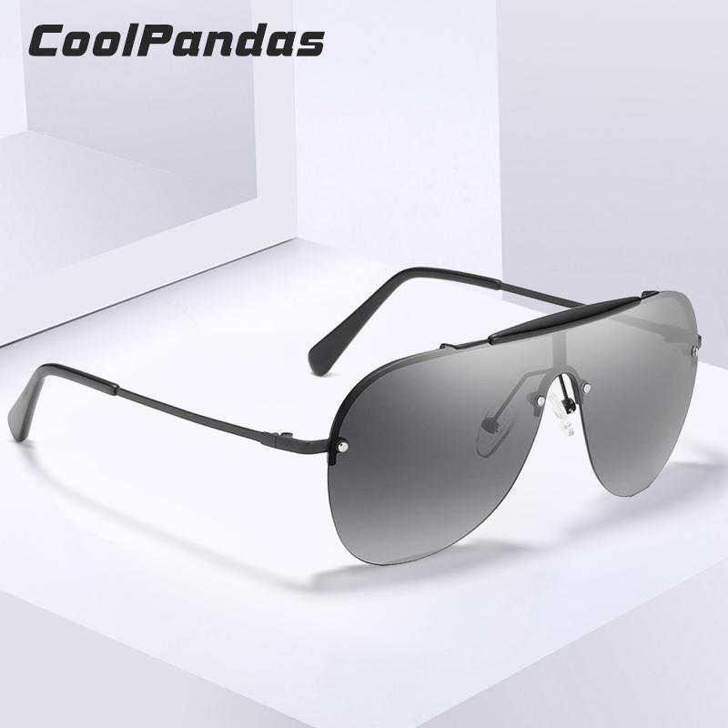 87d7282b1 Compre CoolPandas Design Da Marca Oversize HD Sem Aro Polarizada Óculos De  Sol Dos Homens Grande Quadro Mulheres Masculino Óculos De Sol Unisex Óculos  Gafas ...
