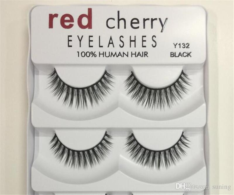 6582ea2bf29 Hot Red Cherry False Eyelashes  Pack 8 Styles Natural Long Professional  Makeup Big Eyes High Quality Lash Extensions Red Cherry Lashes From Suning,  ...