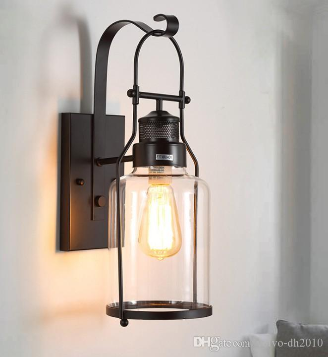Lights & Lighting Surface Mounted American Retro Wall Lamp Industrial Lighting Fixtures Vintage Led Wall Light Sconces For The Room Home Outdoor
