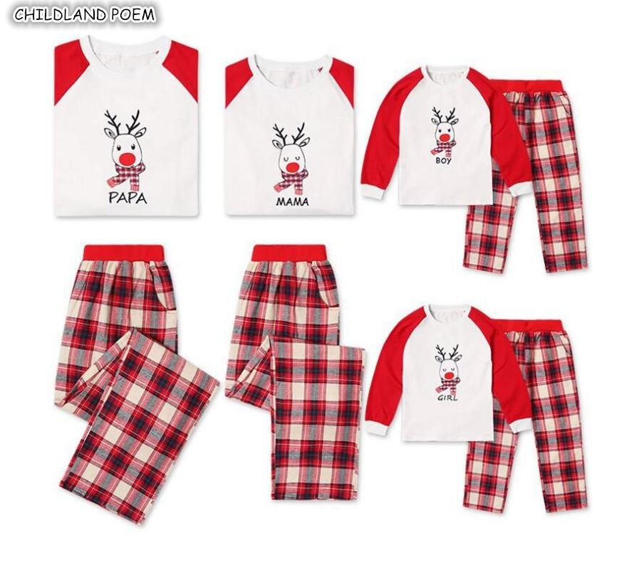 8ee162dc43 Family Christmas Pajamas Set Plaid Mother Daughter Father Kids X Mas Pjs  Family Matching Sleepwear Clothes Look Nightwear Mother Daughter Matching  Shirts ...