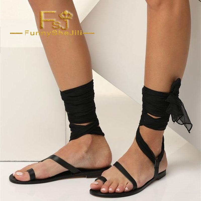 2e376a2895793 Black Vintage Strappy Gladiator Sandals With Black Scarves Summer  Anniversary Attractive Generous Incomparable Noble Elegant FSJ Gladiator  Sandals Wedding ...