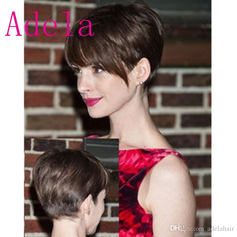 Pixie Cut Short Human Hair Wigs For Black Women Brazilian Full Lace