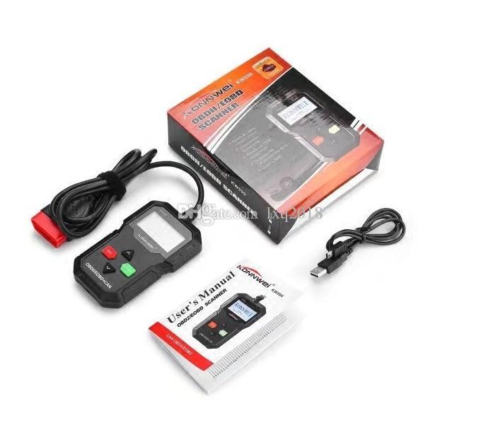 Outil de diagnostic de panne de moteur de diagnostic de lecteur de code de voiture de scanner automatique de KW680 OBDI2 OBDII