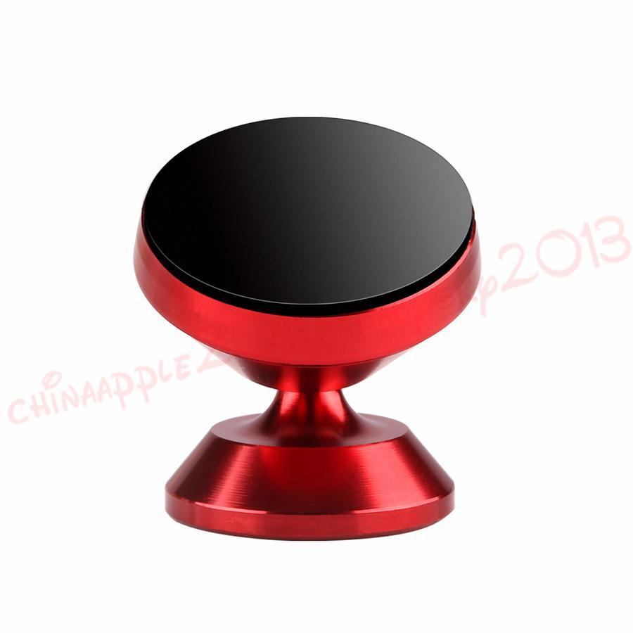 자동차 전화 홀더 360도 회전이 자기 핸드폰 자동차 마운트 홀더 아이폰 7 8 × 삼성 S7 S8 S의 MP3를위한 합금 홀더 스탠드