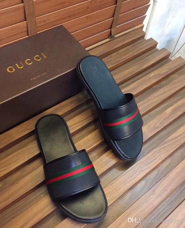 a59e0ad22 Men Women Slide Sandals Designer Shoes Luxury Slide Summer Fashion Wide  Flat Slippery With Thick Sandals Slipper Flip Flops Size 38 45 Over The  Knee Boots ...