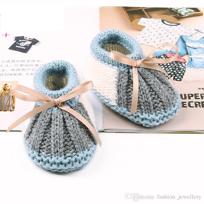 BABY CROCHET HANDMADE KNITTING TRAINERS SHOES CLOTHES BOYS GIRL/'S