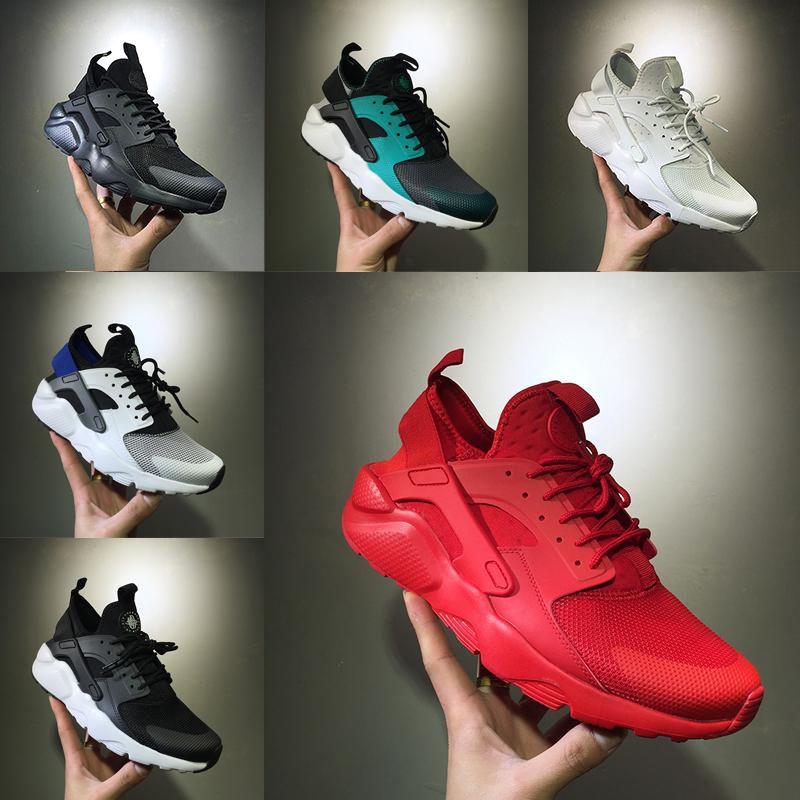 bc3ceb0cef5f1 With Box Air Huarache Run Triple Black White Oreo Red Grey Man Women Ultra  Huaraches Trainer Sport Shoe Running Shoes Huaraches Sneaker Shoe Sale  Running ...