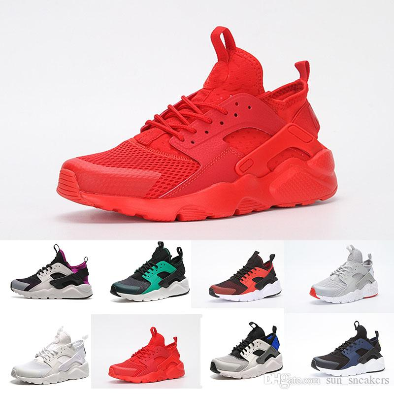 buy popular c287e 596c4 Acheter 2018 Nike Air Huarache 4 Basketball shoes Huaraches 1 Iv 4 Hommes  Chaussures De Course Ultra Run Triple Blanc Noir Rouge Gris Huaraches  Chaussures ...