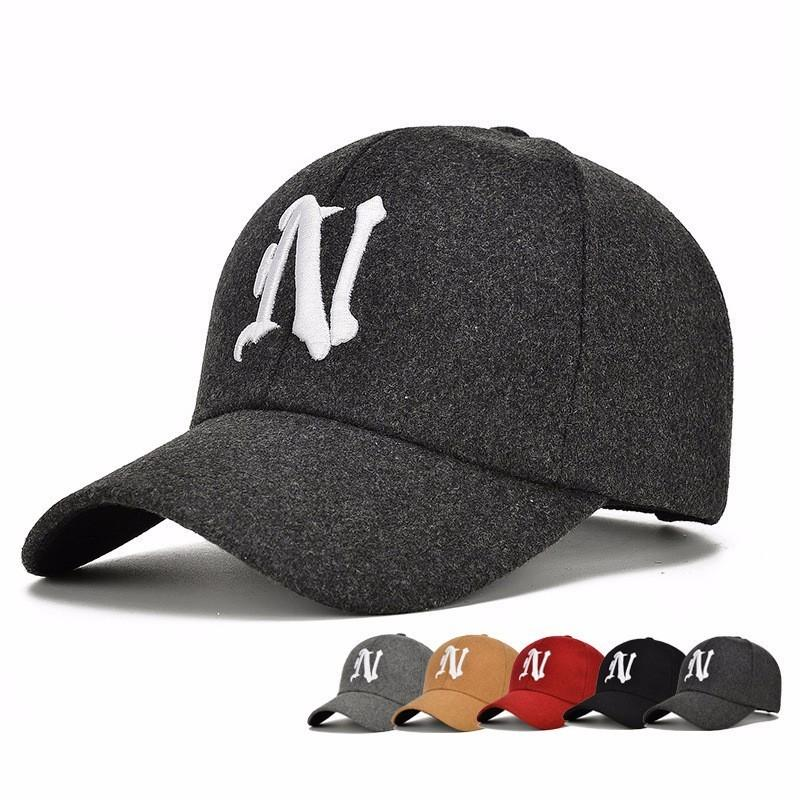 N Letter Embroidered Baseball Cap Men S Adjustable Casual Hats Solid Color  Fashion Sport Snapback Fall Hat H64 Caps For Men Custom Baseball Hats From  ... a4d6188c076