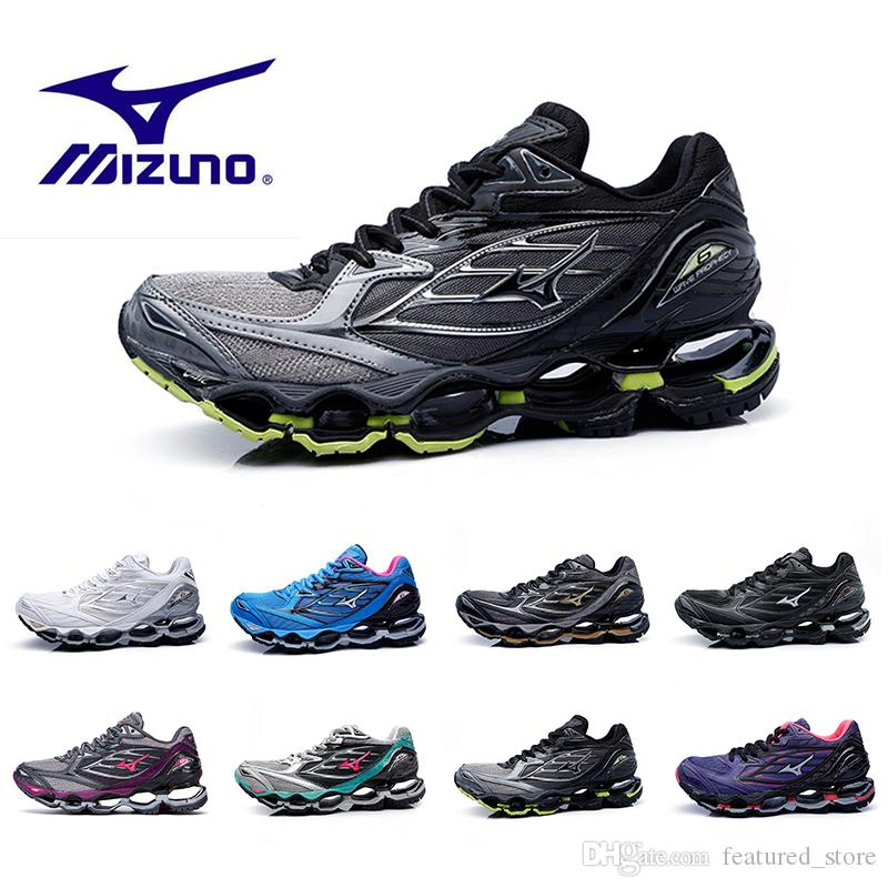 new style 2c63d 88051 Cheaper Mizuno WAVE PROPHECY 6 Mens Designer Running Shoes for Men Hot  Authentic Sports Women Original High QualityTrainers Sneakers Shoes