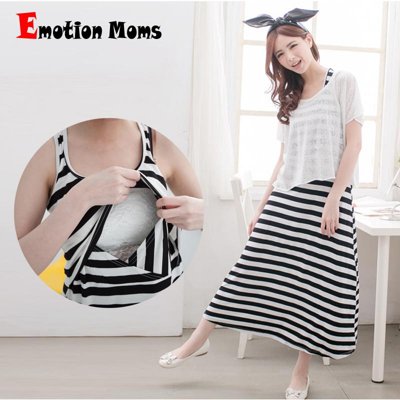a03e21a1a575 2019 Emotion Moms Fashion Maternity Clothes Summer Dress Maternity Dress  For Pregnant Women Nursing Dresses Breast Feeding Clothes From Babymom
