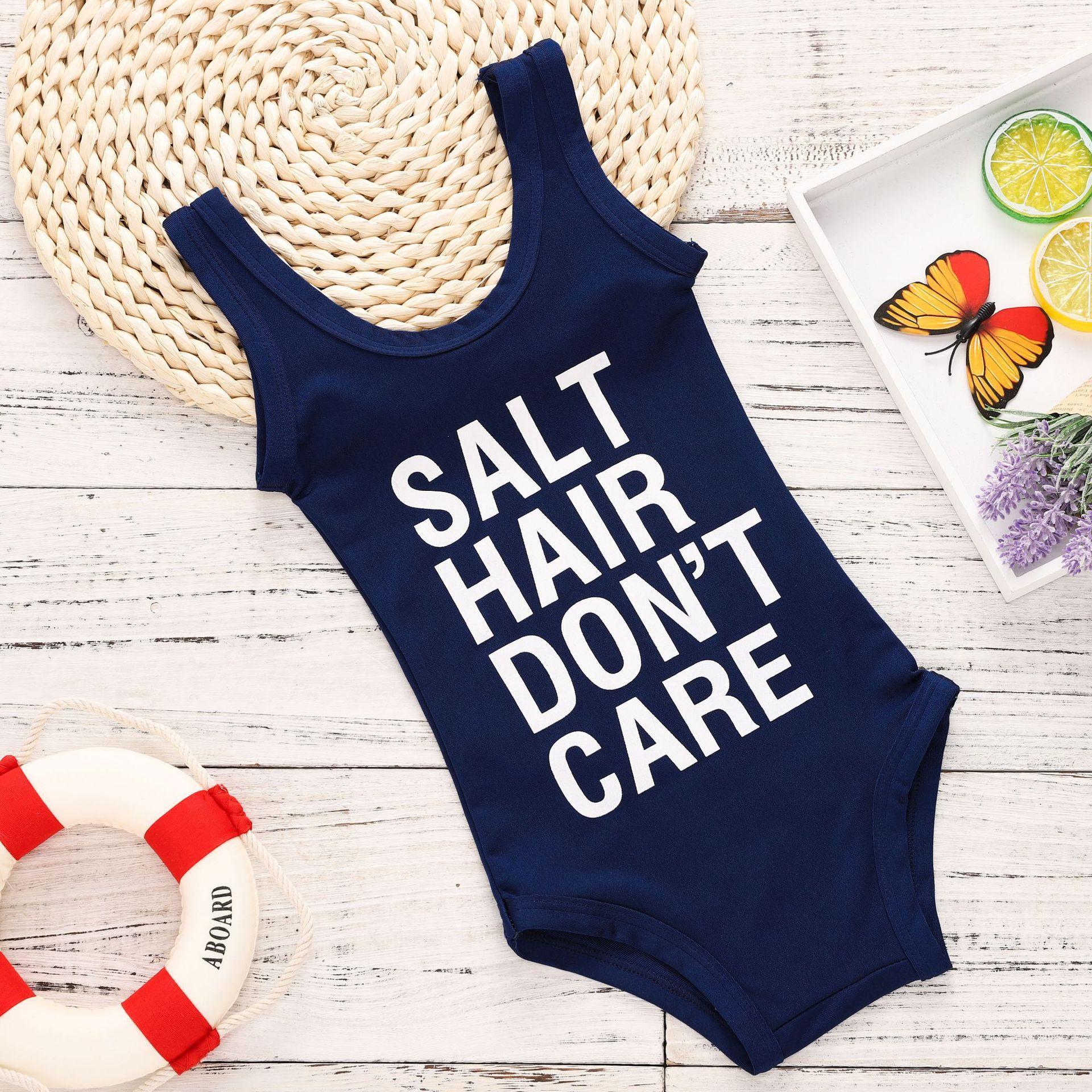 Boutique Clothes Cute Summer Girl e piece Swimsuit SALT HAIR DON T