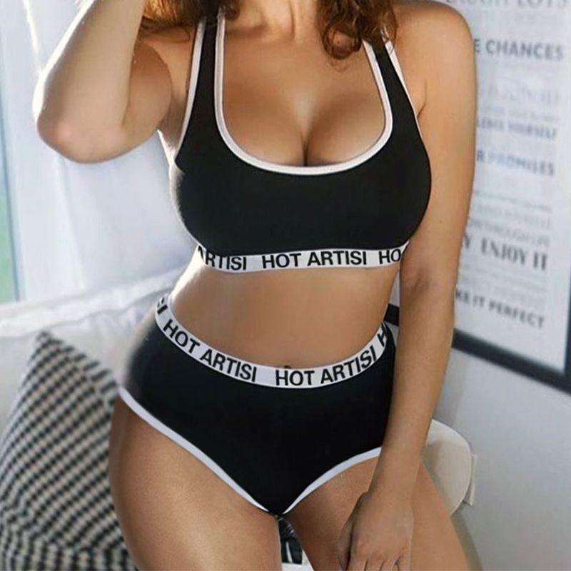 82607acbebbb9 2019 Hot Artist! 2018 New Women Sexy Push Up Bra Set Corset Bra +Thongs  Briefs Panties Fitness Vest Underwear Set Women Tank Tops From Salom