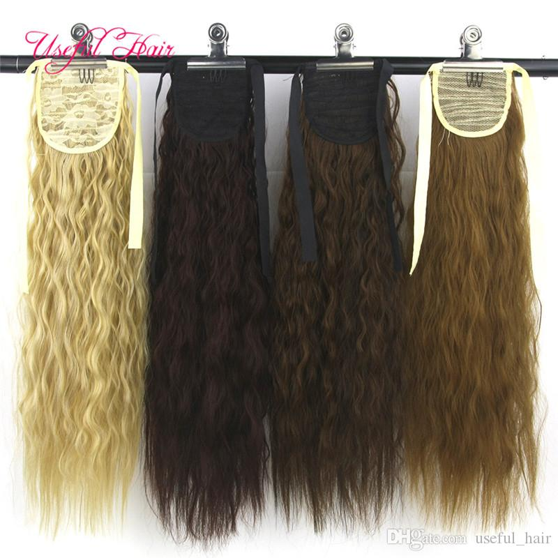 CHEAP Drawstring Ponytails Valentines day Pony Tail Hairpieces comb ponytail blonde hair extension clip in hair extensions for female,girl