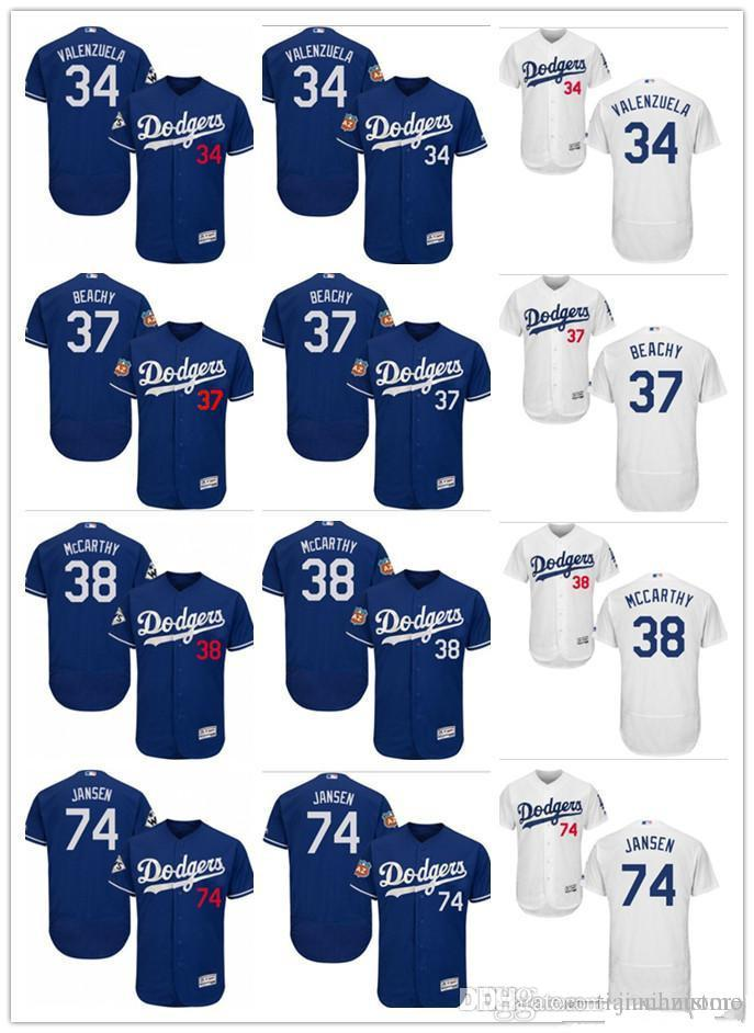 2019 Custom Men S Women Youth Majestic LA Dodgers Jersey  74 Kenley Jansen  38 Brandon McCarthy 34 Fernando Valenzuela 37 Beachy Baseball Jer From ... 668060249e2