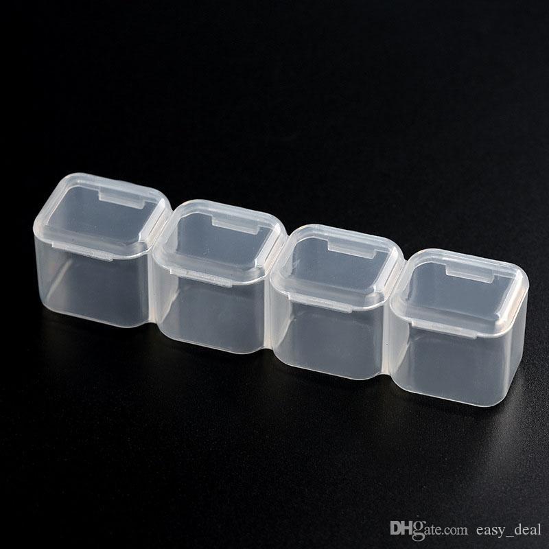 28 Слотов Регулируемый Прозрачный Пластиковый Ящик Для Хранения Ювелирные Изделия Макияж Бисера Организатор Для Хранения Домашнего Офиса QW7123