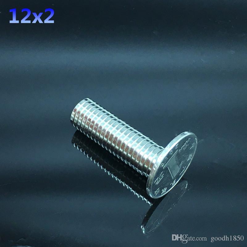 12x2mm 슈퍼 강한 자석 12X2 mm 라운드 디스크 희토류 네오디뮴 자석 12 * 2mm NEW Art Craft 연결 냉장고 자석