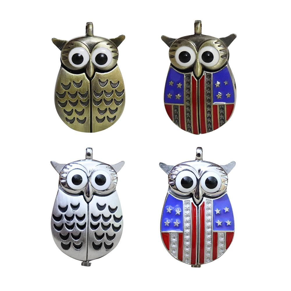 New Arrival Vintage Owl Quartz Fob Pocket Watch With Pendant Sweater Necklace Chain