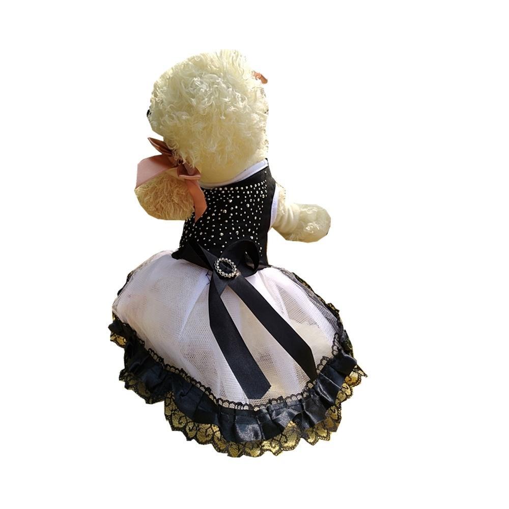 3832fc4b4c621 Acheter Princesse Mignonne Strass Jupe Pour Fête D anniversaire De Chien  Robe Noire Pour Les Animaux De Compagnie VIP Chiens Nouvel An Noël  Chihuahua De ...