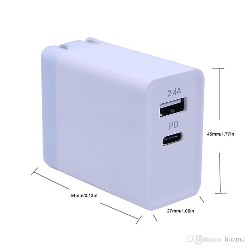 Type C USB Port PD Power Adapter USB Charger Wall Charger Station