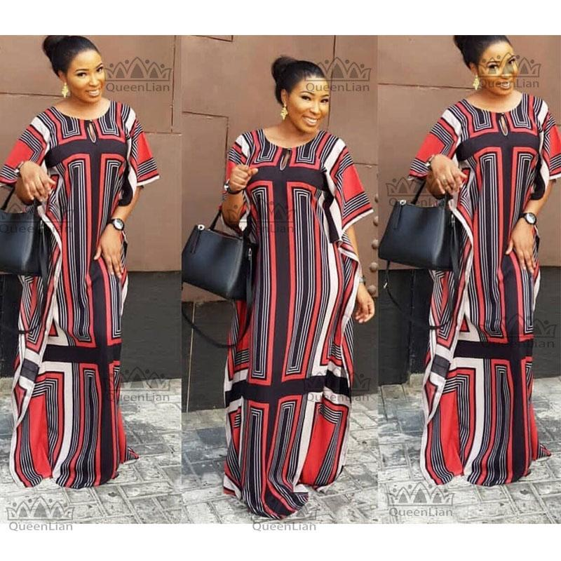 2019 2018 African Dashiki New Dashiki Traditional Fashion Design Bazin  Super Elastic Party Plus Loose Dress For Lady Loose From Braces 77322b728ae6