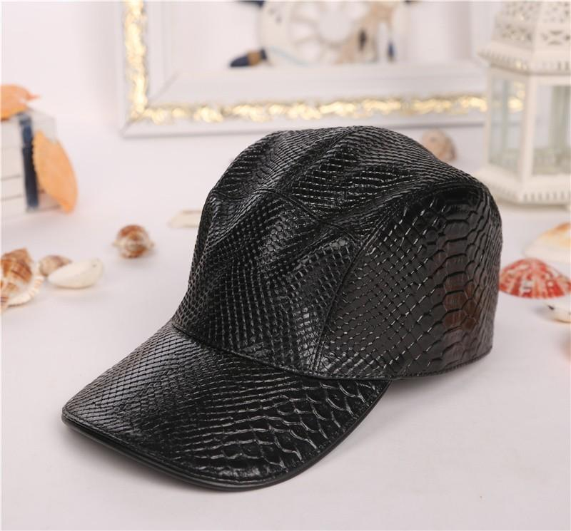 2ecdeb773a2 2018 New Hat Fashion Men s And Women s Baseball Caps Hats Outdoor Leisure  Sun Hats Leather Surface Hat Visor Cap Online with  37.68 Piece on Wsj988 s  Store ...