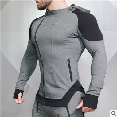 2018 New Design Bodybuilding Men Fit Hooded Hoodies Fitness Gyms Men