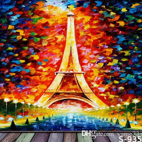 2018 5x7ft Vinyl Abstract Color Paris Eiffel Tower Wood