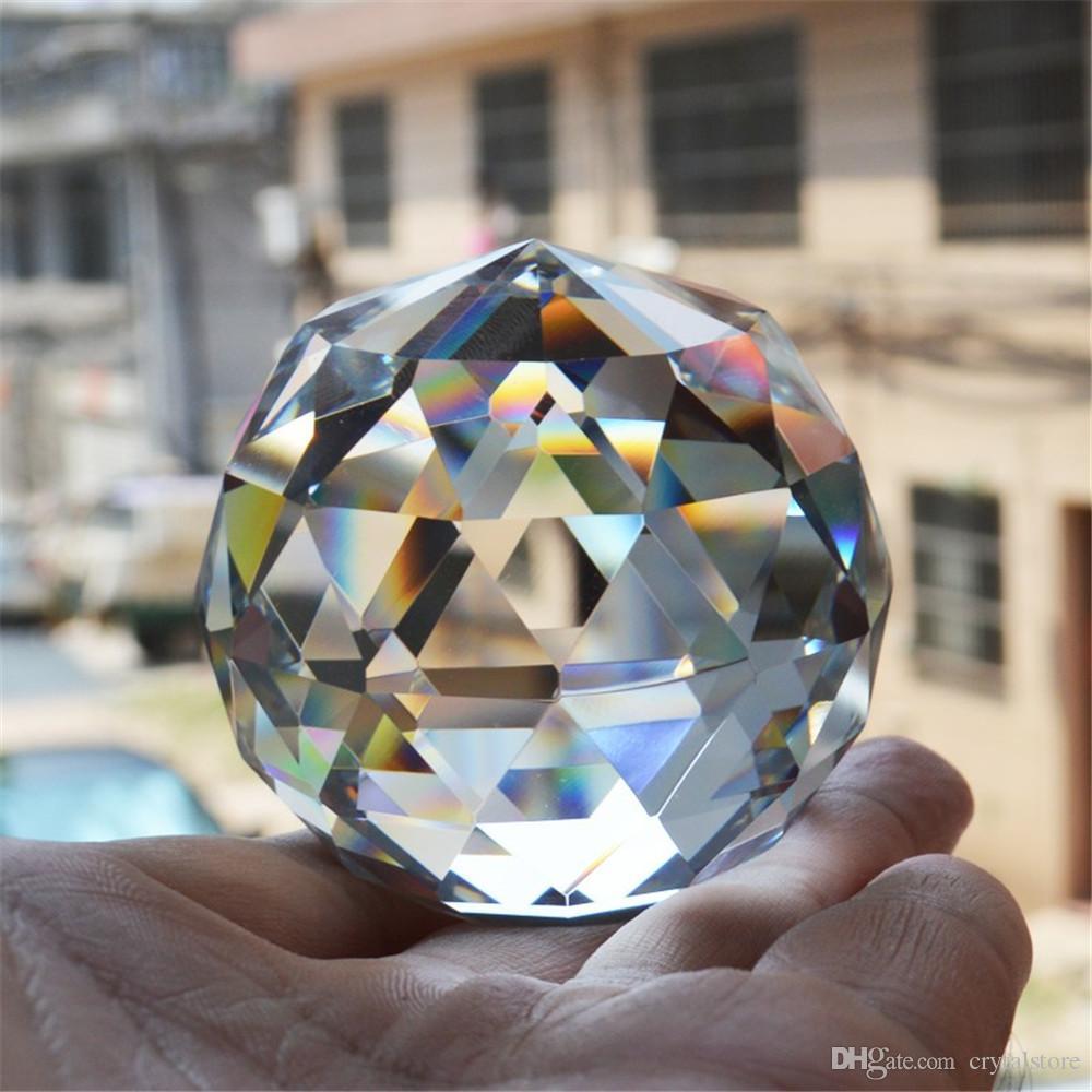 Кварцевое стекло Кристалл граненый натуральный шар камни и минералы Фэн-Шуй кристаллы шары миниатюрная фигурка Кристал продукты