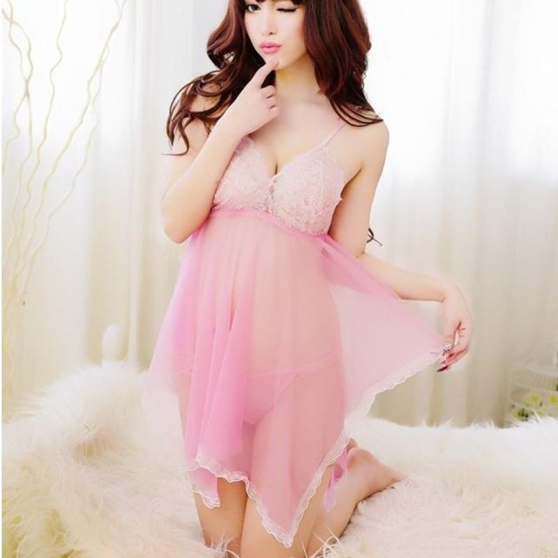 2017 New Fashion Lage Sexy Lingerie Temptation Suit Sexy Lace Flowers Pure Ladies Fat MM Pajamas Sexy Dress