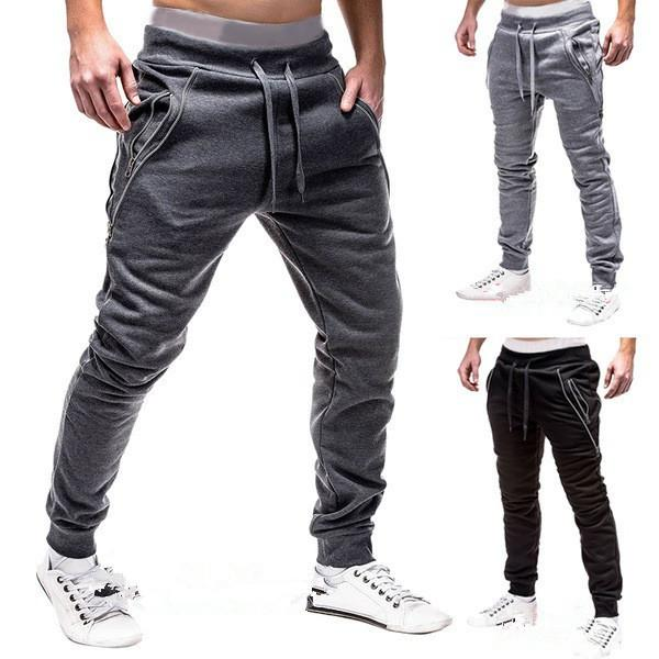 8500053f2b96a9 2019 New Fashion Men'S Sports Cotton Trousers Sweatpants Legging ...