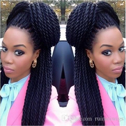 Micro Braided Wigs Fashion Synthetic Hand Braided Wig Crochet Braids