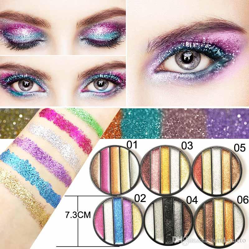 Eye Shadow Beauty & Health 12 Color Glitter Eyeshadow Palette Shimmer Gold Shine Eyeshadow Glitter Shiny Eyeshadow Blue Eye Shadows Cosmetics Tool Diamond