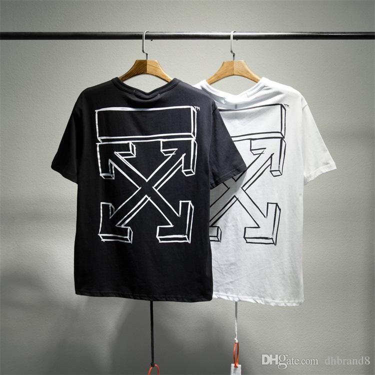 Compre Marca Off Designer Camiseta Blanca Verano Hip Hop Camiseta Impresa  Mujer Hombre Camisetas Camisetas Sueltas Casual Fit Mens Algodón Camisetas  007 A ... aedb9b9a497c2