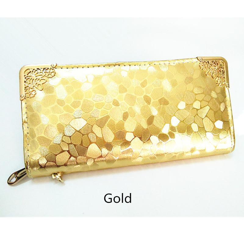 wholesale long clutch wallet fashion silver patent leather stone pattern PU Leather purse money Bag Coins Holder elegant