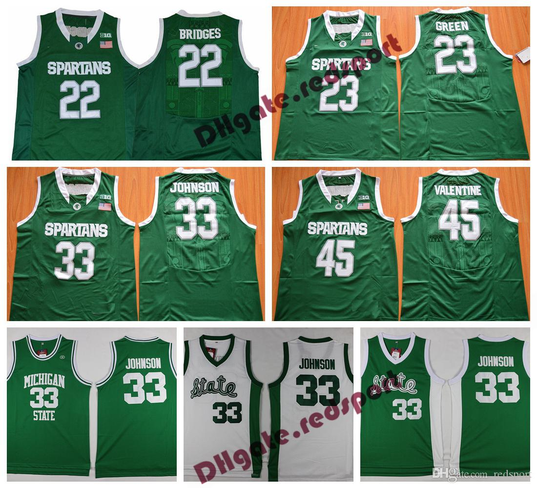 79773180 2019 Mens Michigan State Spartans Magic Johnson College Basketball Jersey  Ward Miles Bridges Draymond Green Denzel Valentine Jackson Jr. Shirts From  ...