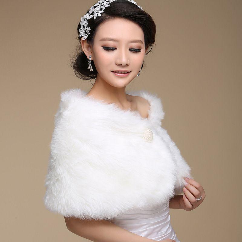 Wedding Bolero Outerwear Accessories Urged Wrap Bride Formal Winter Cape Bride Fur Shawl Wedding Jackets Wrap