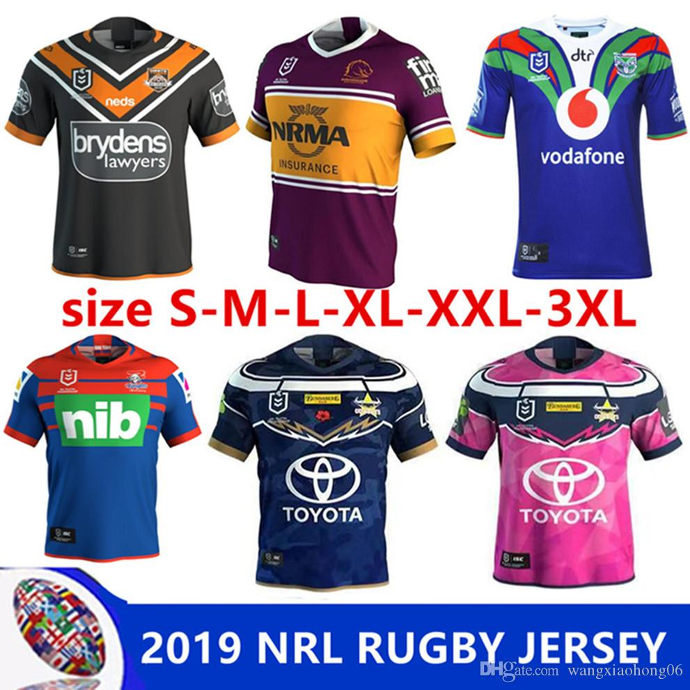 7be9cec28 2019 2019 NRL RUGBY JERSEY BRISBANE BRONCOS 18 19 HOME JERSEY NEW ZEALAND  Australia NSW NEWCASTLE KNIGHTS WESTS TIGERS COWBOYS Size S 3XL From ...