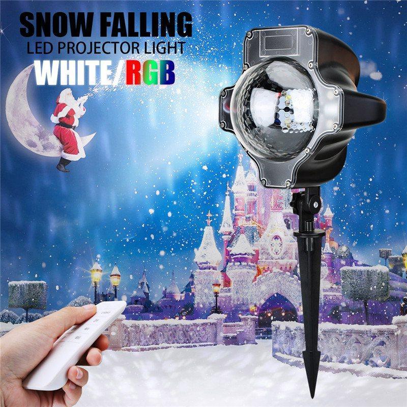 Großhandel Smuxi Schnee Fallende LED Projektor Licht Weihnachten ...
