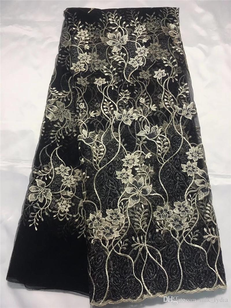 Latest Style 2018 Fashion african lace fabric embroidery french tulle lace fabric material For Party Dress