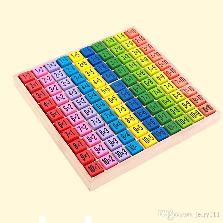 Multiplication Table Math Toys 10x10 Double Side Pattern Printed ...