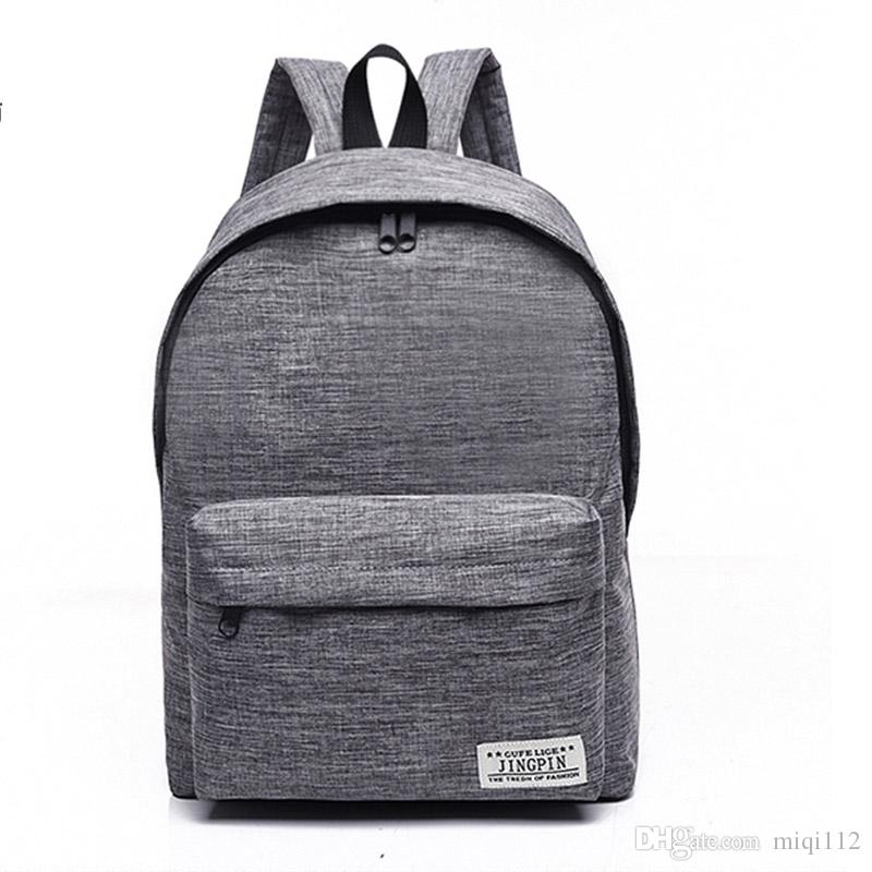 b71636221c2f Bacisco Canvas Backpack Women Men Large Capacity Laptop Backpack ...