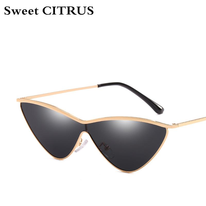 c99300da080 Cute Sexy Ladies Siamese Cat Eye Sunglasses Women Metal Frame 2018 ...