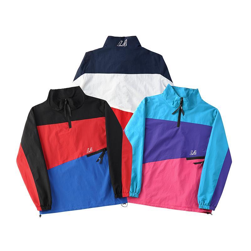 1fa700af5 18SS PAL 3 TRACK SHELL TOP Half Zipper Pullover Jacket Men Women ...