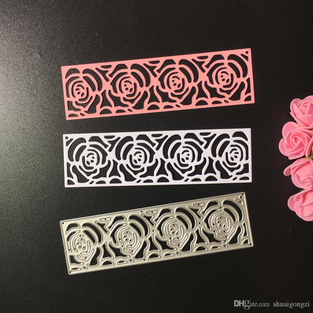 2018 Metal Rose Flowers Frame Wedding Cutting Dies Stencil