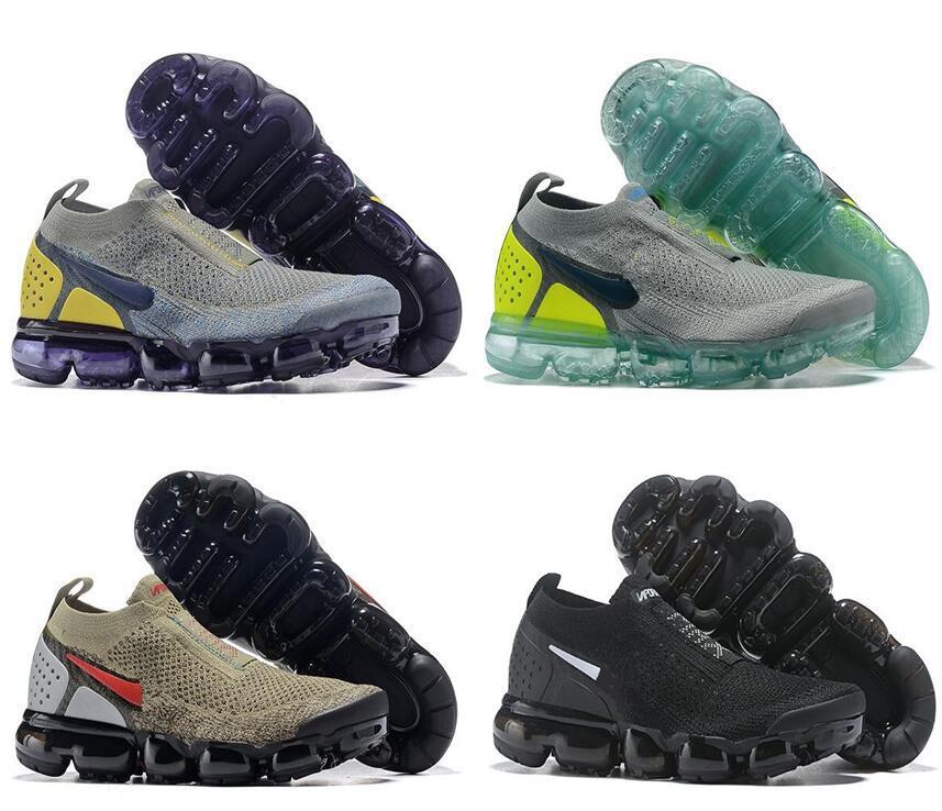 the latest 8e109 b7a01 Acheter New Air Moc 2 Laceless 2.0 Chaussures De Course Triple Black  Designer Hommes Femmes Sneakers Fly White Knit Sports Trainers Chaussures  De  33.51 Du ...