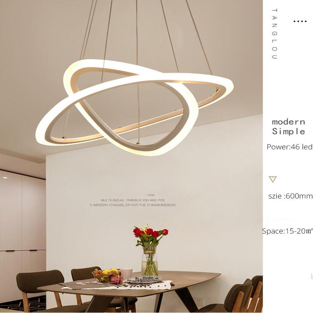 Modern Led Chandelier For Kitchen Dining Room Living Room Suspension ...