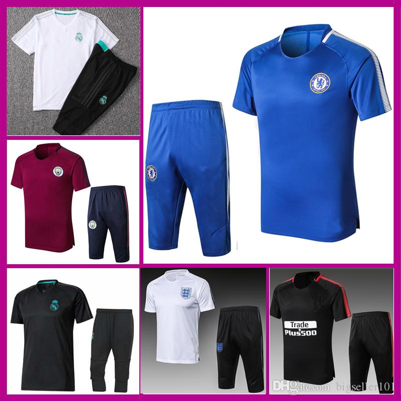 a1c21f9bd 1718 Real Madrid Soccer Jersey For Men Tracksuit Training Suit ...